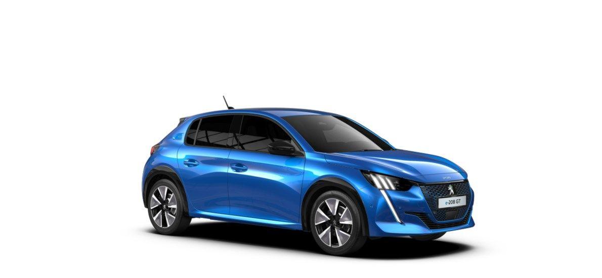 Nieuw Peugeot New 208 Berline 5 portes GT Pack Electrique e- AUTOMATIQUE A REDUCT Bleu Vertigo (M6SM) 6