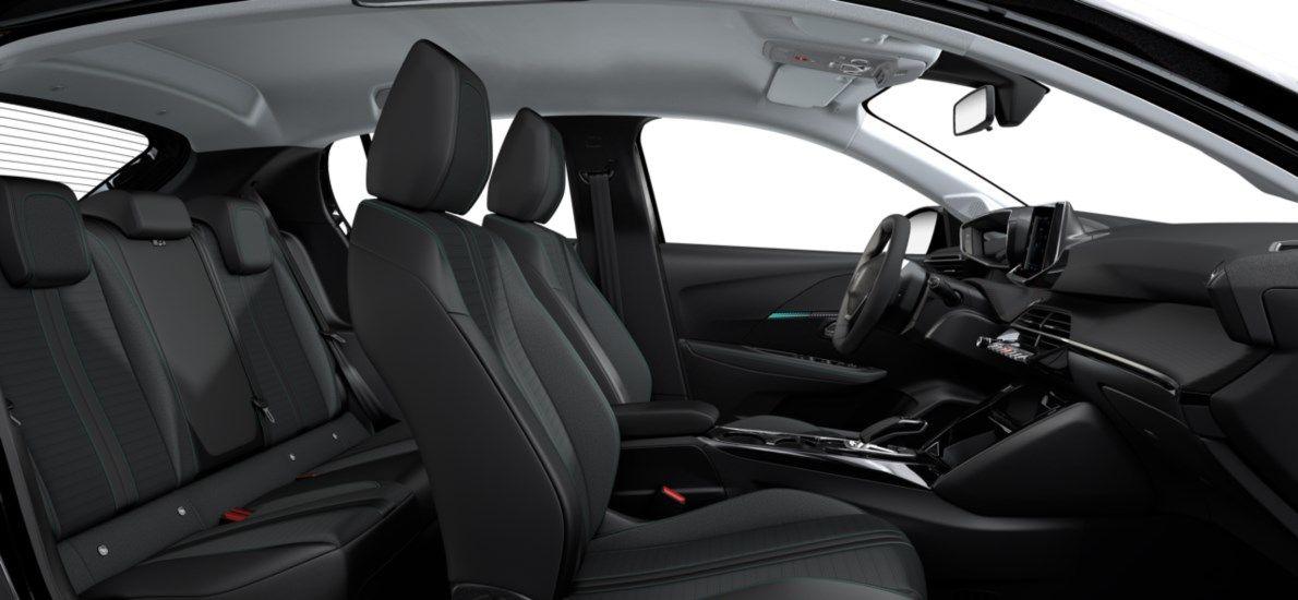 Nieuw Peugeot New 208 Berline 5 portes Allure Pack Electrique e- AUTOMATIQUE A REDUCT Noir Perla Nera (M09V) 12