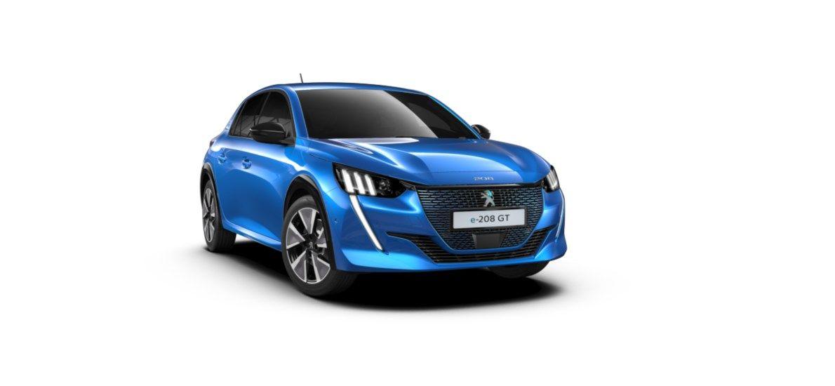 Nieuw Peugeot New 208 Berline 5 portes GT Pack Electrique e- AUTOMATIQUE A REDUCT Bleu Vertigo (M6SM) 1