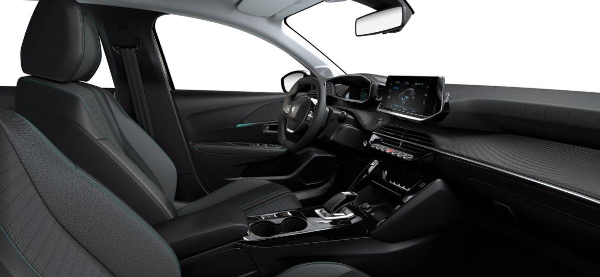 Nieuw Peugeot New 208 Berline 5 portes Allure Pack Electrique e- AUTOMATIQUE A REDUCT Noir Perla Nera (M09V) 11