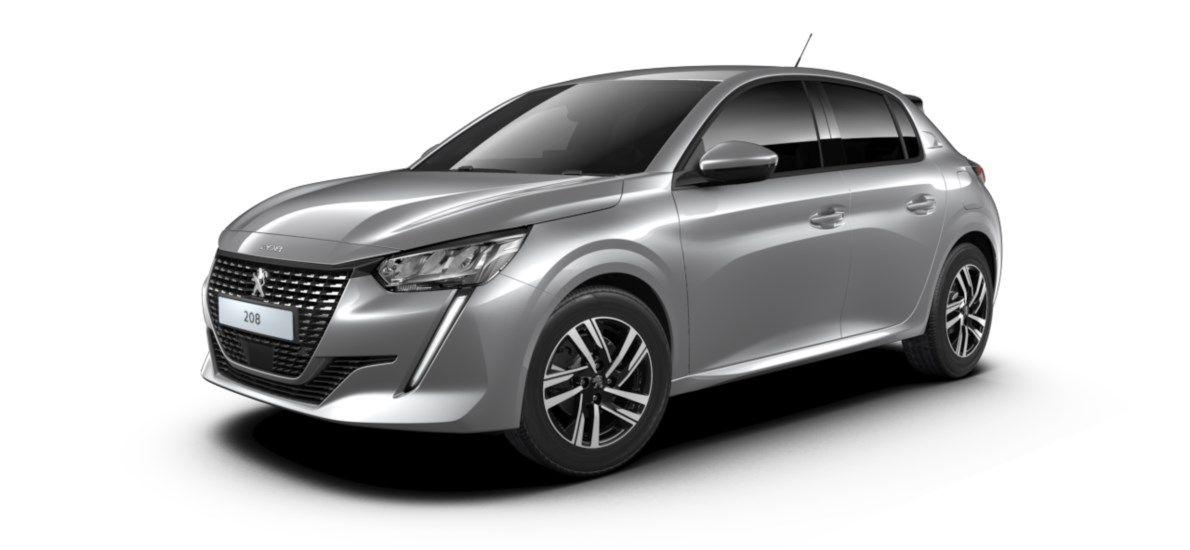 Nieuw Peugeot New 208 Berline 5 portes Allure Pack 1.2 PureTech 100ch EAT8 Gris Artense (M0F4) 2
