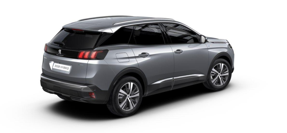 Nieuw Peugeot 3008 SUV Allure Pack Hybride Hybrid 225 ch 4X2 AUTOMATIQUE 8 RA Gris Artense (M0F4) 2