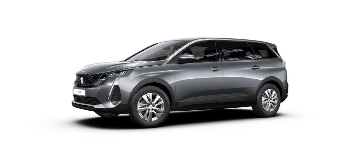 Nieuw Peugeot 5008 SUV Active Pack DV5RC/UE63 1.5L DIES EAT8 Gris Artense (M0F4) 1