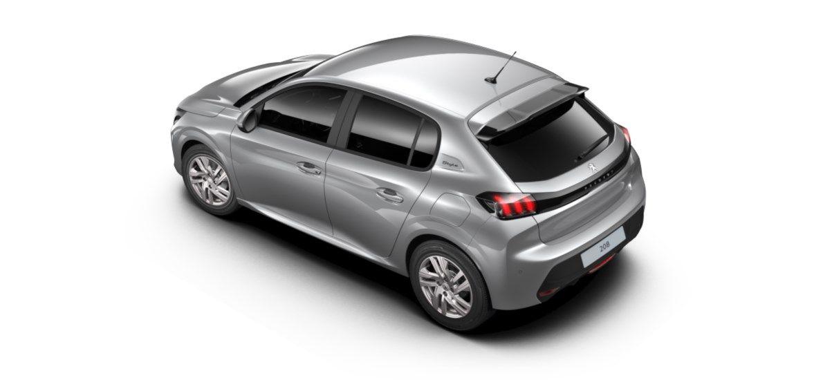 Nieuw Peugeot New 208 Berline 5 portes Active Pack 1.2 PureTech 100ch EAT8 Gris Artense (M0F4) 4