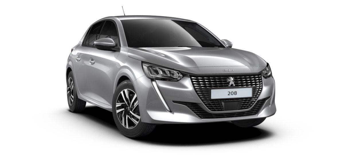 Nieuw Peugeot New 208 Berline 5 portes Allure Pack 1.2 PureTech 100ch EAT8 Gris Artense (M0F4) 1