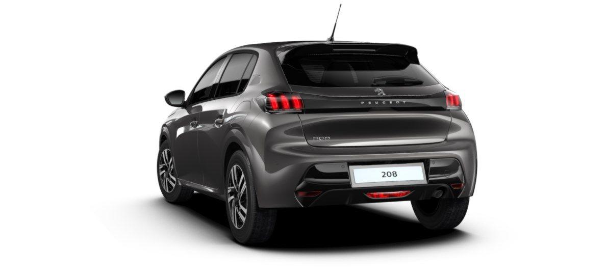 Nieuw Peugeot New 208 Berline 5 portes Allure Pack 1.2 PureTech 100ch EAT8 Gris Platinium (M0VL) 5