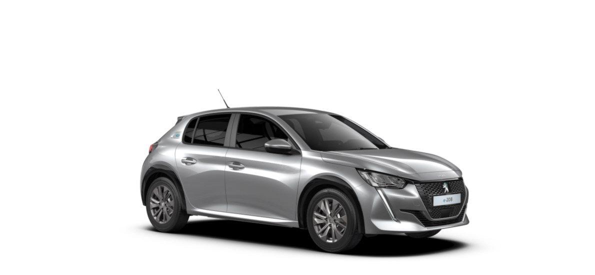 Nieuw Peugeot New 208 Berline 5 portes Active Pack Electrique e- AUTOMATIQUE A REDUCT Gris Artense (M0F4) 6