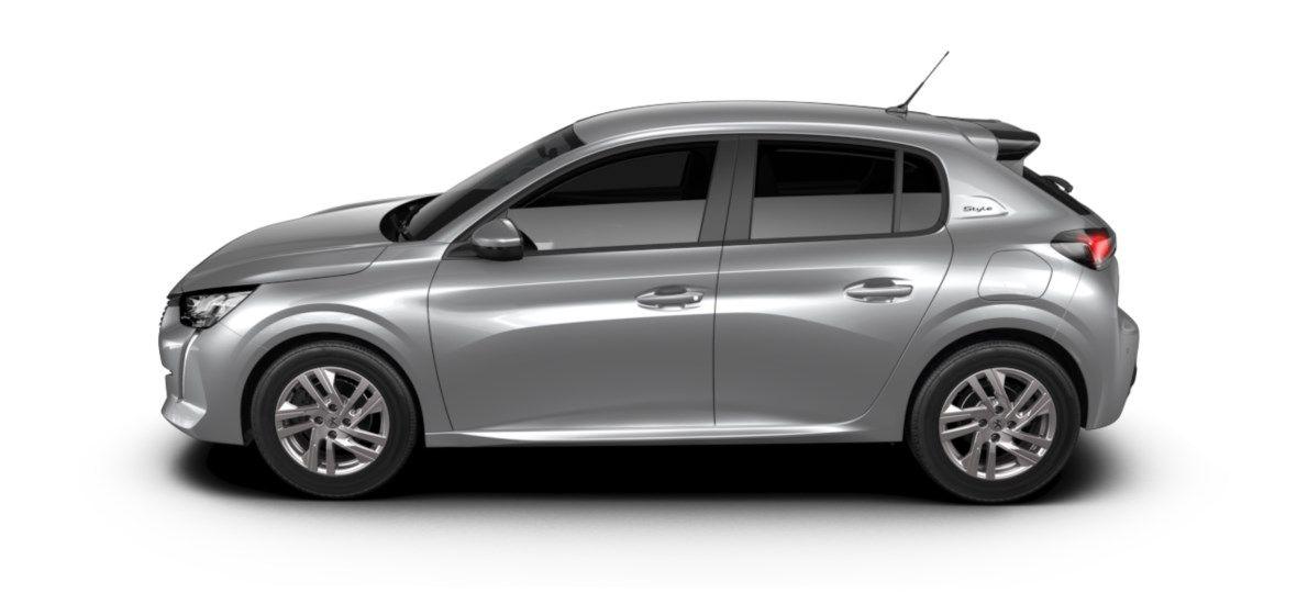 Nieuw Peugeot New 208 Berline 5 portes Active Pack 1.2 PureTech 100ch EAT8 Gris Artense (M0F4) 3