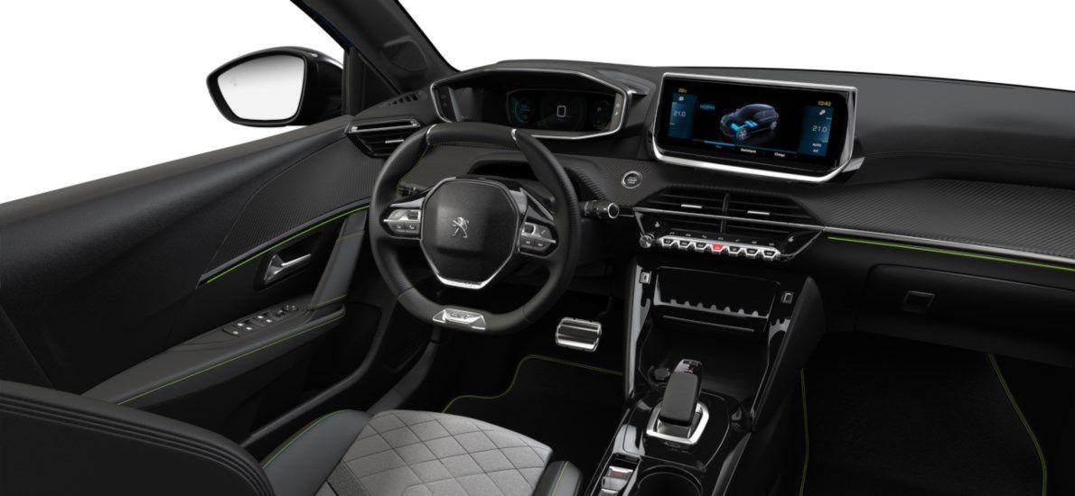 Nieuw Peugeot New 208 Berline 5 portes GT Pack Electrique e- AUTOMATIQUE A REDUCT Bleu Vertigo (M6SM) 10