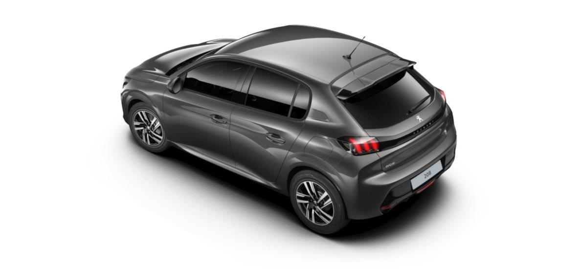 Nieuw Peugeot New 208 Berline 5 portes Allure Pack 1.2 PureTech 100ch EAT8 Gris Platinium (M0VL) 4