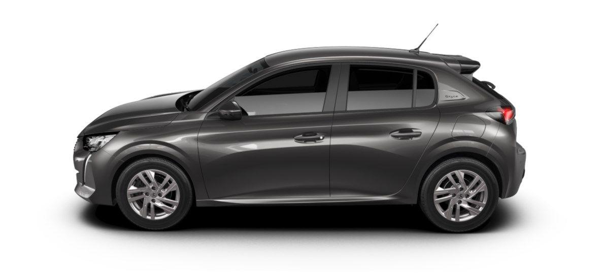 Nieuw Peugeot New 208 Berline 5 portes Active Pack 1.2 PureTech 100ch EAT8 Gris Platinium (M0VL) 3