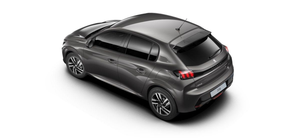 Nieuw Peugeot New 208 Berline 5 portes Allure Pack 1.2 PureTech 100ch S&S Manuelle 6 vitesses Gris Platinium (M0VL) 4