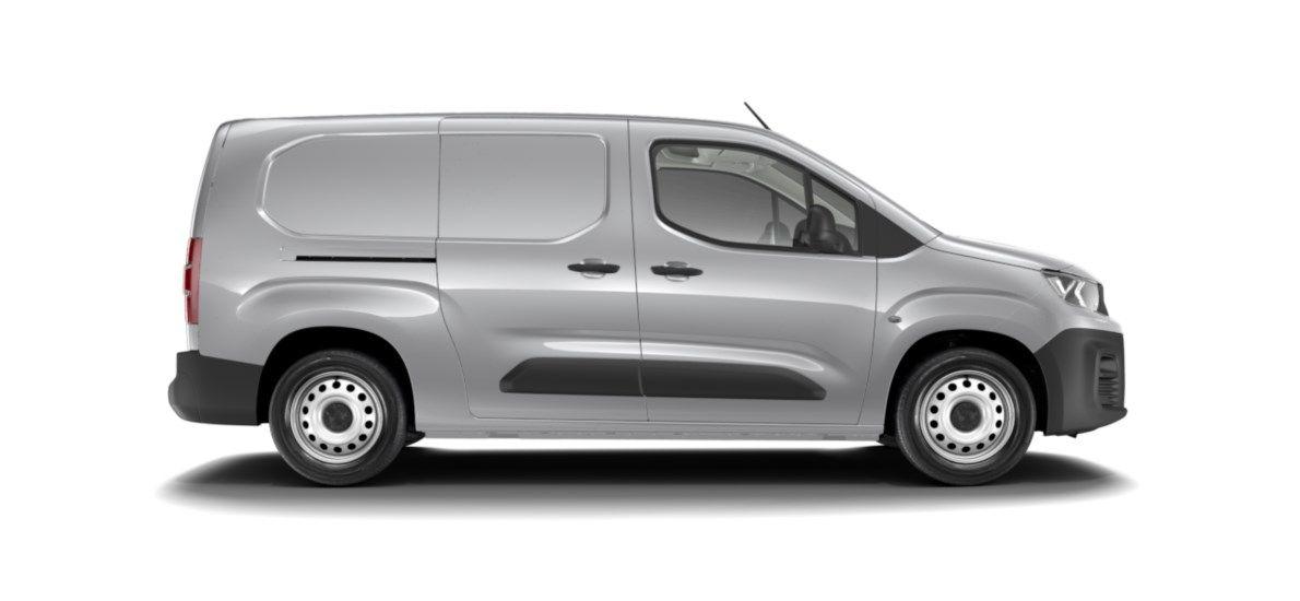 Nieuw Peugeot Partner Long Heavy Premium 1.5 BlueHDi 130ch S&S S&S Manuelle 6 vitesses Gris Platinium (M0VL) 2