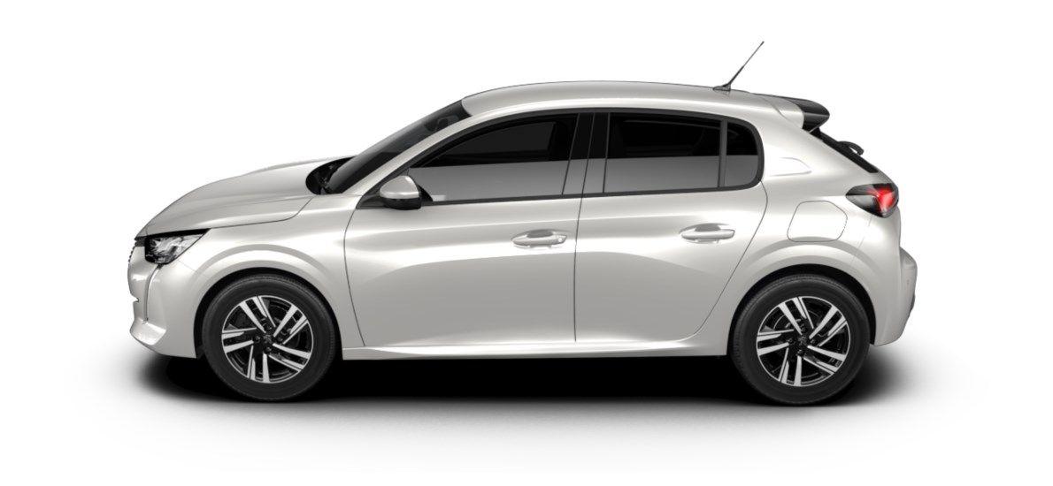 Nieuw Peugeot New 208 Berline 5 portes Allure Pack 1.2 PureTech 100ch S&S Manuelle 6 vitesses Blanc Nacré (M6N9) 3