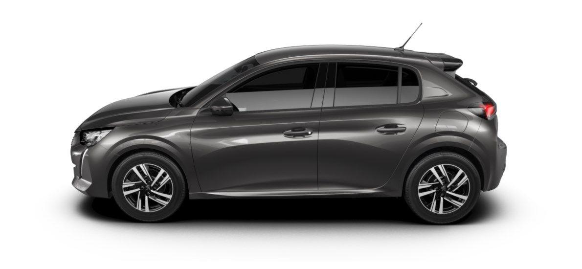 Nieuw Peugeot New 208 Berline 5 portes Allure Pack 1.2 PureTech 100ch EAT8 Gris Platinium (M0VL) 3
