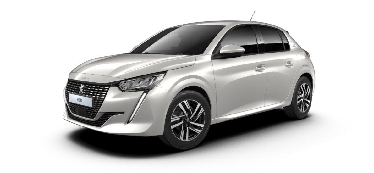 Nieuw Peugeot New 208 Berline 5 portes Allure Pack 1.2 PureTech 100ch S&S Manuelle 6 vitesses Blanc Nacré (M6N9) 2