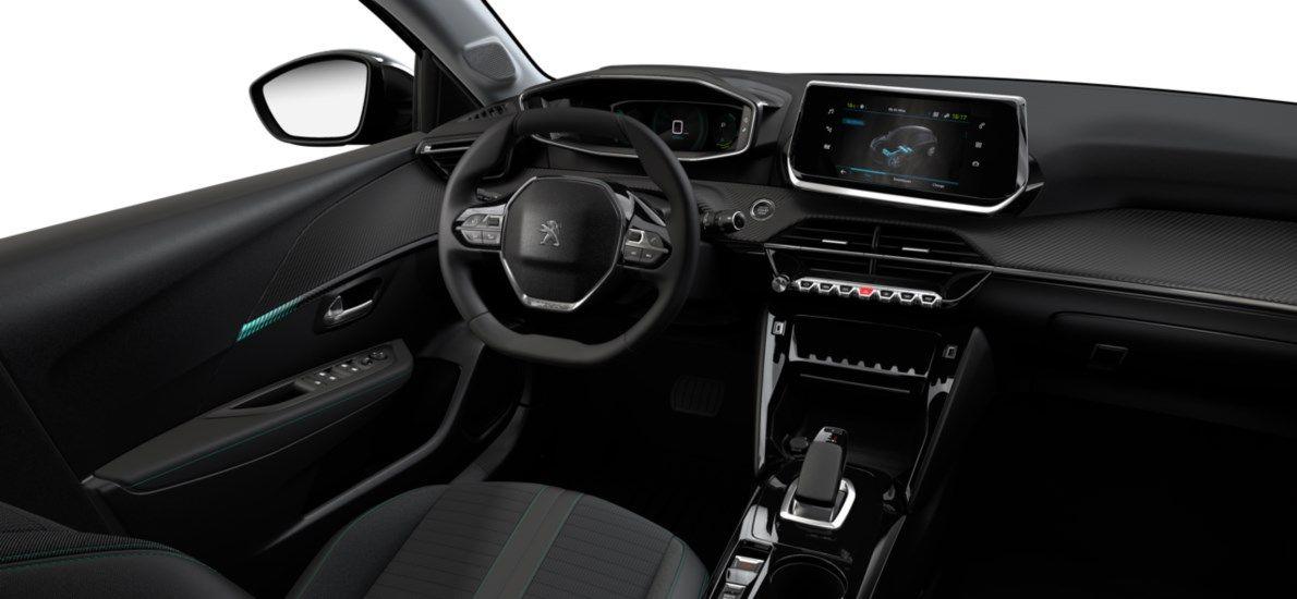 Nieuw Peugeot New 208 Berline 5 portes Allure Pack Electrique e- AUTOMATIQUE A REDUCT Noir Perla Nera (M09V) 10