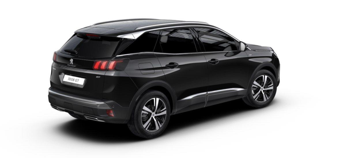 Nieuw Peugeot 3008 SUV GT 1.5 BlueHDi 130 ch EAT8 Noir Perla Nera (M09V) 2