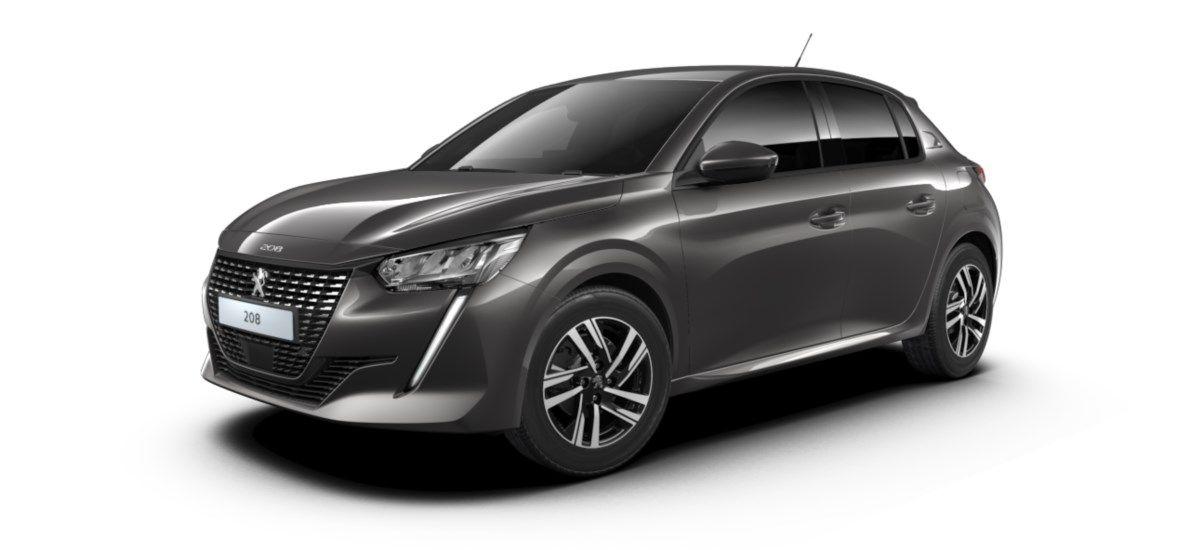 Nieuw Peugeot New 208 Berline 5 portes Allure Pack 1.2 PureTech 100ch S&S Manuelle 6 vitesses Gris Platinium (M0VL) 2