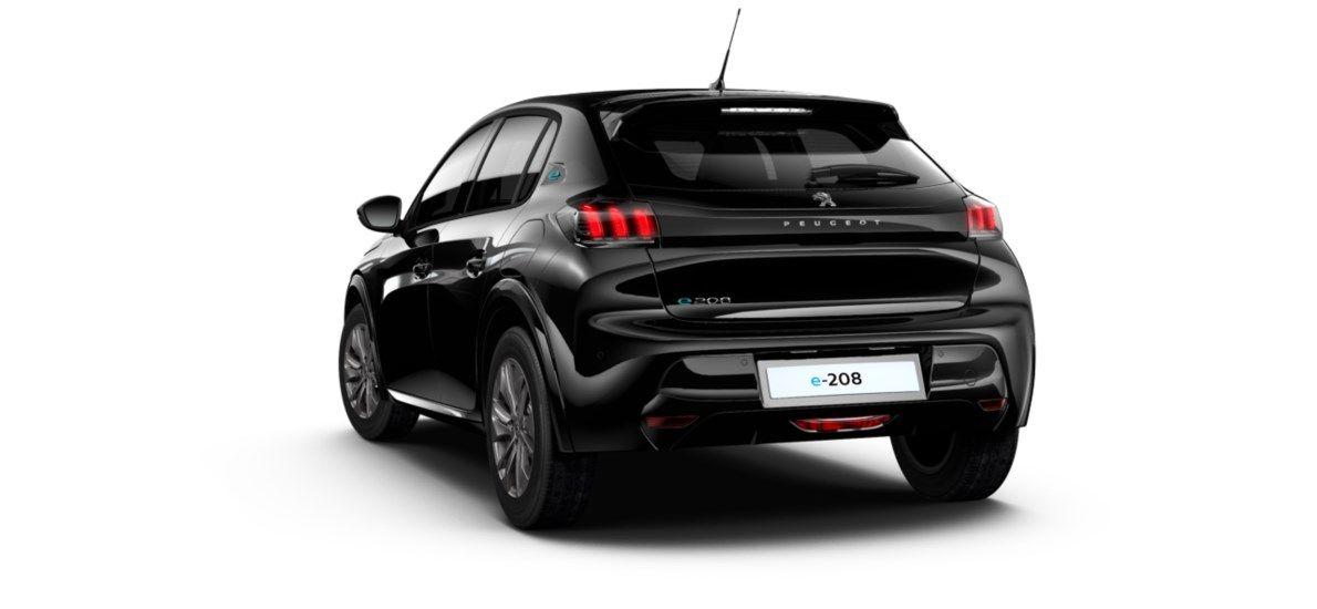 Nieuw Peugeot New 208 Berline 5 portes Allure Pack Electrique e- AUTOMATIQUE A REDUCT Noir Perla Nera (M09V) 5