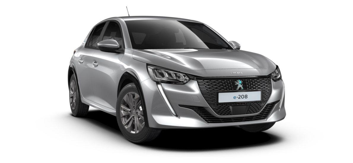 Nieuw Peugeot New 208 Berline 5 portes Active Pack Electrique e- AUTOMATIQUE A REDUCT Gris Artense (M0F4) 1