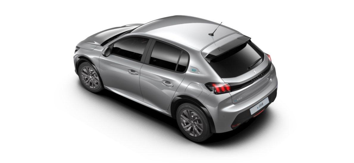 Nieuw Peugeot New 208 Berline 5 portes Active Pack Electrique e- AUTOMATIQUE A REDUCT Gris Artense (M0F4) 4