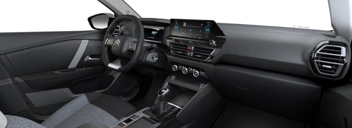 Nieuw Citroen New C4 BERLINE 5 PORTES MOYENNE MOYENNE EB2ADTS/EU63 1200 3 S&S Manuelle 6 vitesses Noir Obsidien (M0XL) 11