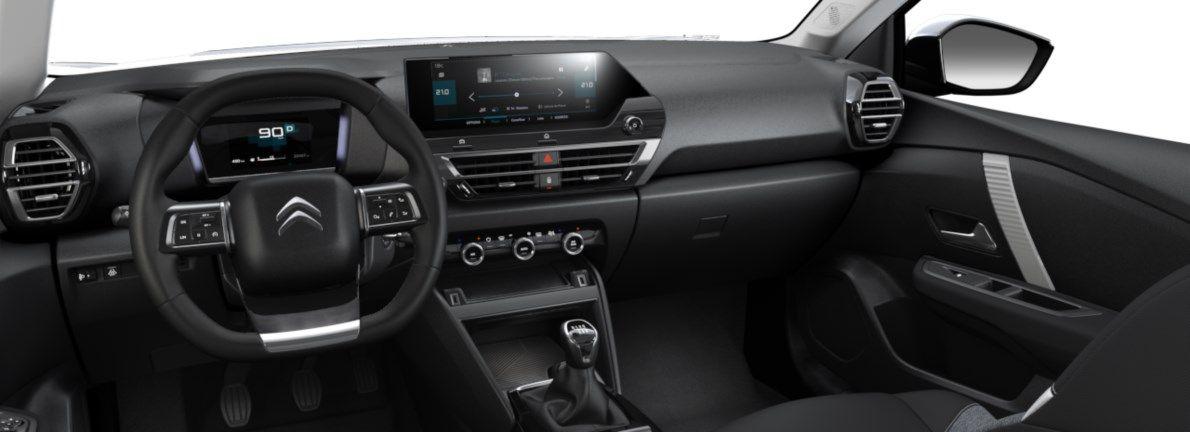 Nieuw Citroen New C4 BERLINE 5 PORTES MOYENNE MOYENNE EB2ADTS/EU63 1200 3 S&S Manuelle 6 vitesses Noir Obsidien (M0XL) 10