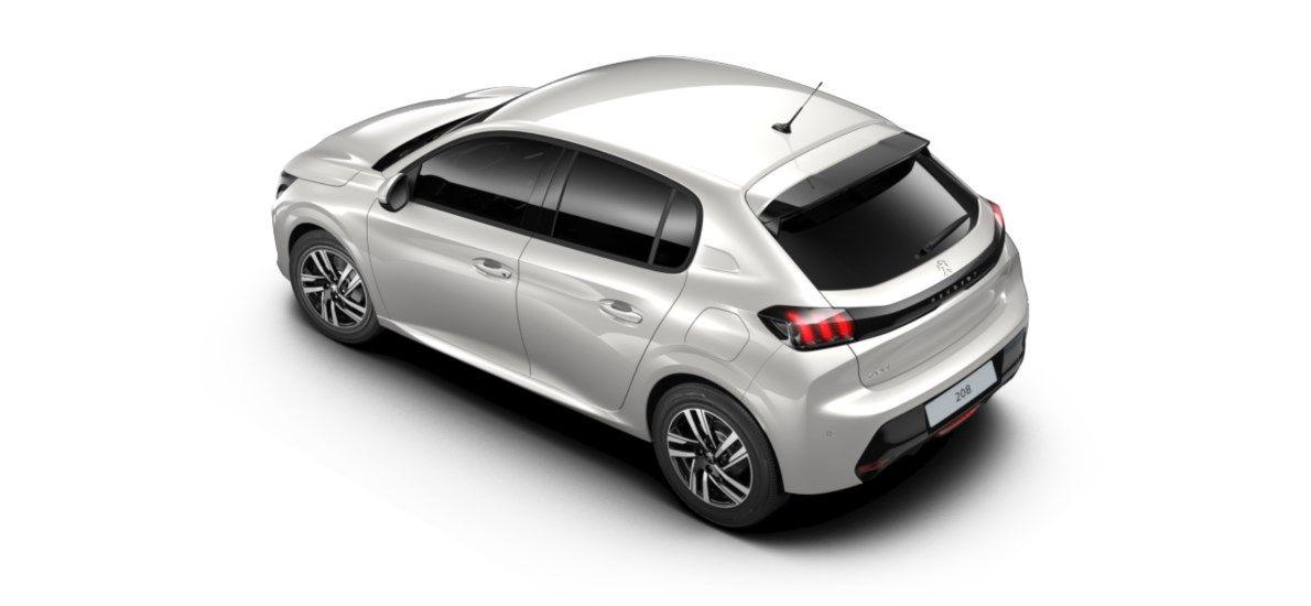 Nieuw Peugeot New 208 Berline 5 portes Allure Pack 1.2 PureTech 100ch S&S Manuelle 6 vitesses Blanc Nacré (M6N9) 4