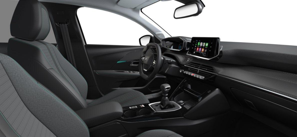 Nieuw Peugeot New 208 Berline 5 portes Allure Pack 1.2 PureTech 100ch S&S Manuelle 6 vitesses Blanc Nacré (M6N9) 11