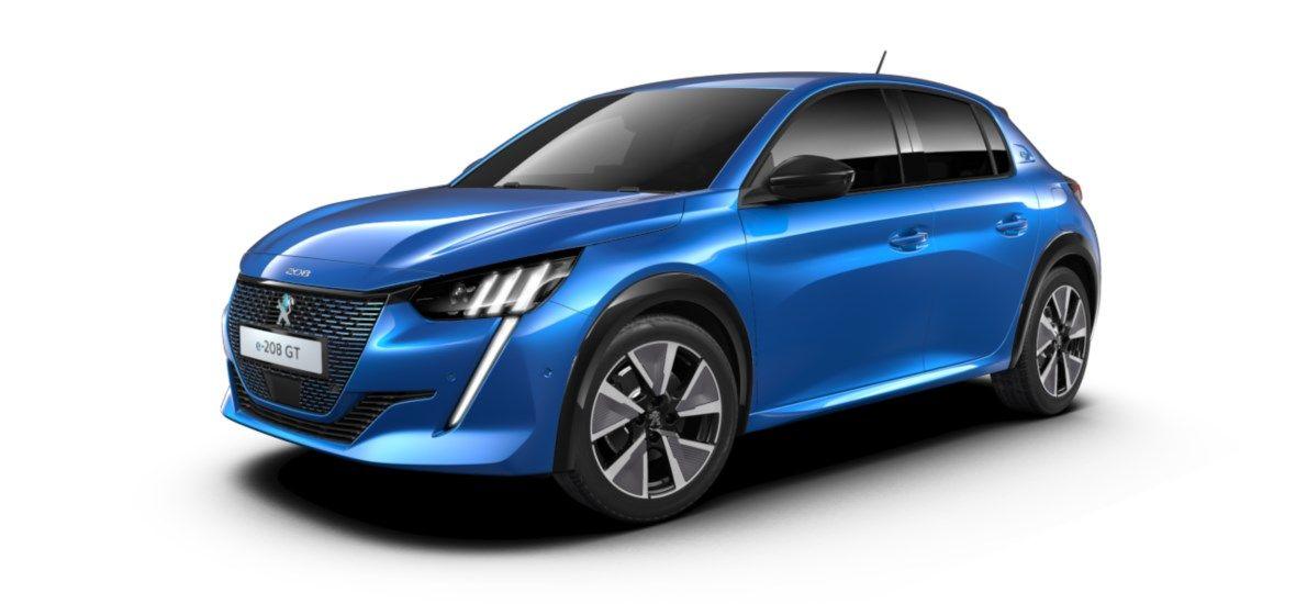 Nieuw Peugeot New 208 Berline 5 portes GT Pack Electrique e- AUTOMATIQUE A REDUCT Bleu Vertigo (M6SM) 2