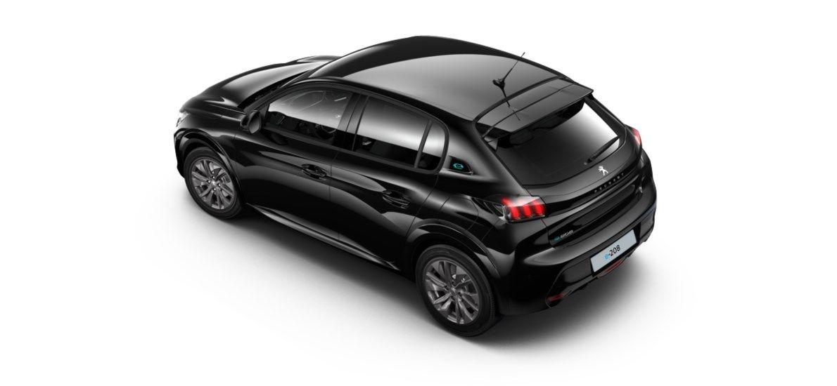 Nieuw Peugeot New 208 Berline 5 portes Allure Pack Electrique e- AUTOMATIQUE A REDUCT Noir Perla Nera (M09V) 4