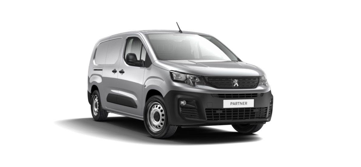 Nieuw Peugeot Partner Long Heavy Premium 1.5 BlueHDi 130ch S&S S&S Manuelle 6 vitesses Gris Platinium (M0VL) 1