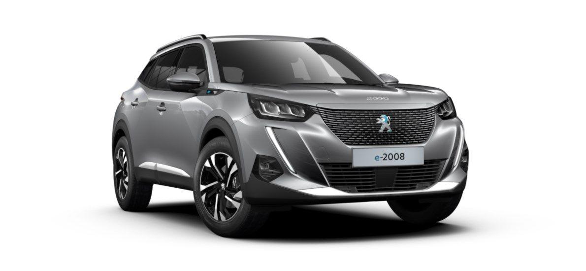 Nieuw Peugeot New 2008 SUV Allure Pack Electrique e- AUTOMATIQUE A REDUCT Gris Artense (M0F4) 1