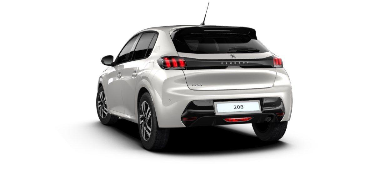 Nieuw Peugeot New 208 Berline 5 portes Allure Pack 1.2 PureTech 100ch EAT8 Blanc Nacré (M6N9) 5