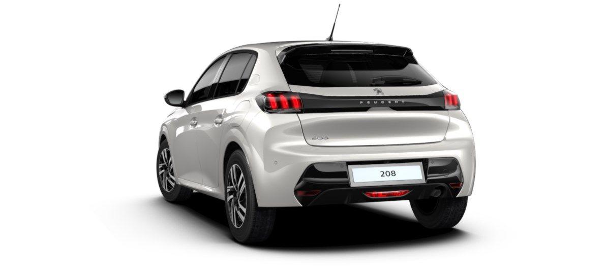 Nieuw Peugeot New 208 Berline 5 portes Allure Pack 1.2 PureTech 100ch S&S Manuelle 6 vitesses Blanc Nacré (M6N9) 5