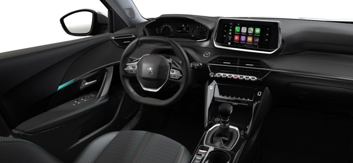 Nieuw Peugeot New 2008 SUV Allure 1.2 PureTech 130 S&S S&S Manuelle 6 vitesses Noir Perla Nera (M09V) 10