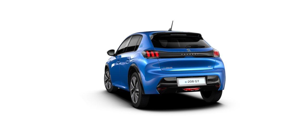 Nieuw Peugeot New 208 Berline 5 portes GT Pack Electrique e- AUTOMATIQUE A REDUCT Bleu Vertigo (M6SM) 5