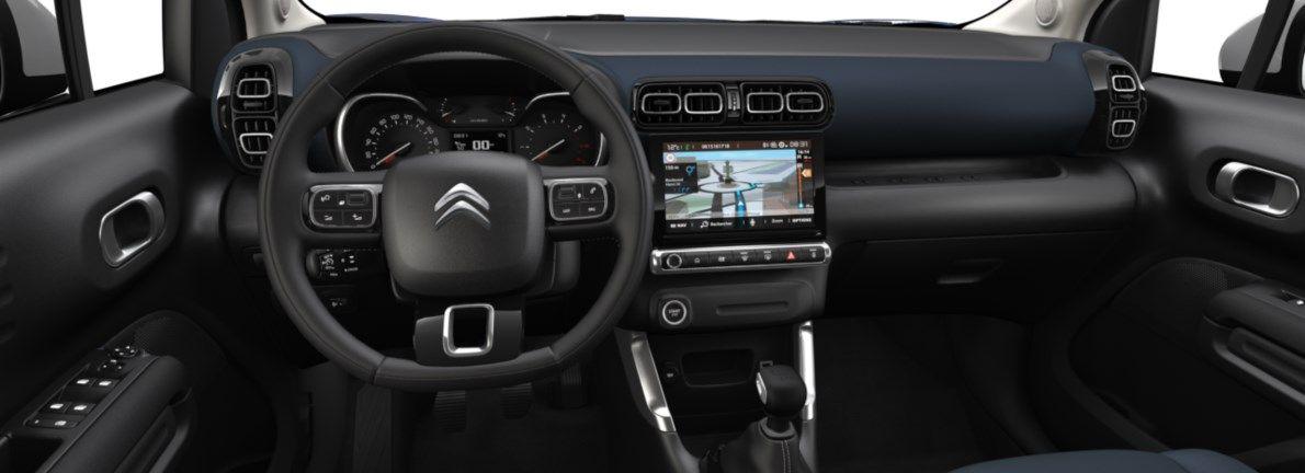 Nieuw Citroen SUV C3 Aircross BERLINE FAMILIALE SUPERIEURE BASSE DV5RCE/UE63 1.5L DIE S&S Manuelle 6 vitesses Voltaic Blue (M0AV) 10