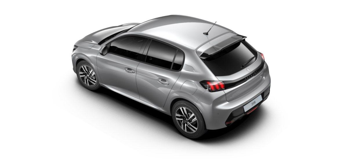 Nieuw Peugeot New 208 Berline 5 portes Allure Pack 1.2 PureTech 100ch EAT8 Gris Artense (M0F4) 4