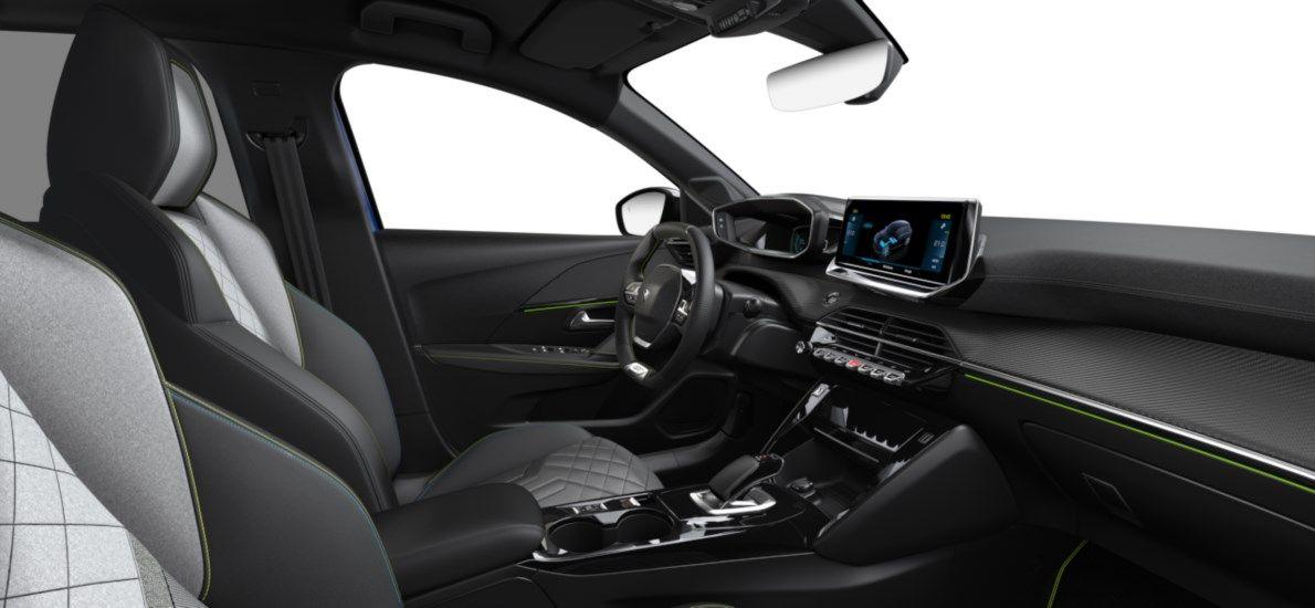 Nieuw Peugeot New 208 Berline 5 portes GT Pack Electrique e- AUTOMATIQUE A REDUCT Bleu Vertigo (M6SM) 11