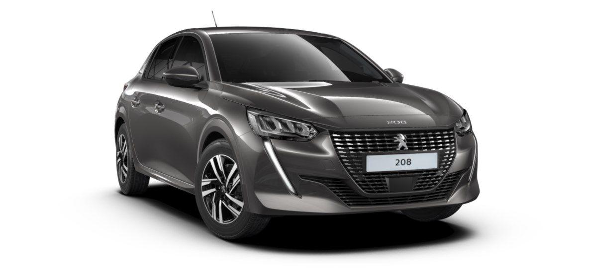 Nieuw Peugeot New 208 Berline 5 portes Allure Pack 1.2 PureTech 100ch EAT8 Gris Platinium (M0VL) 1