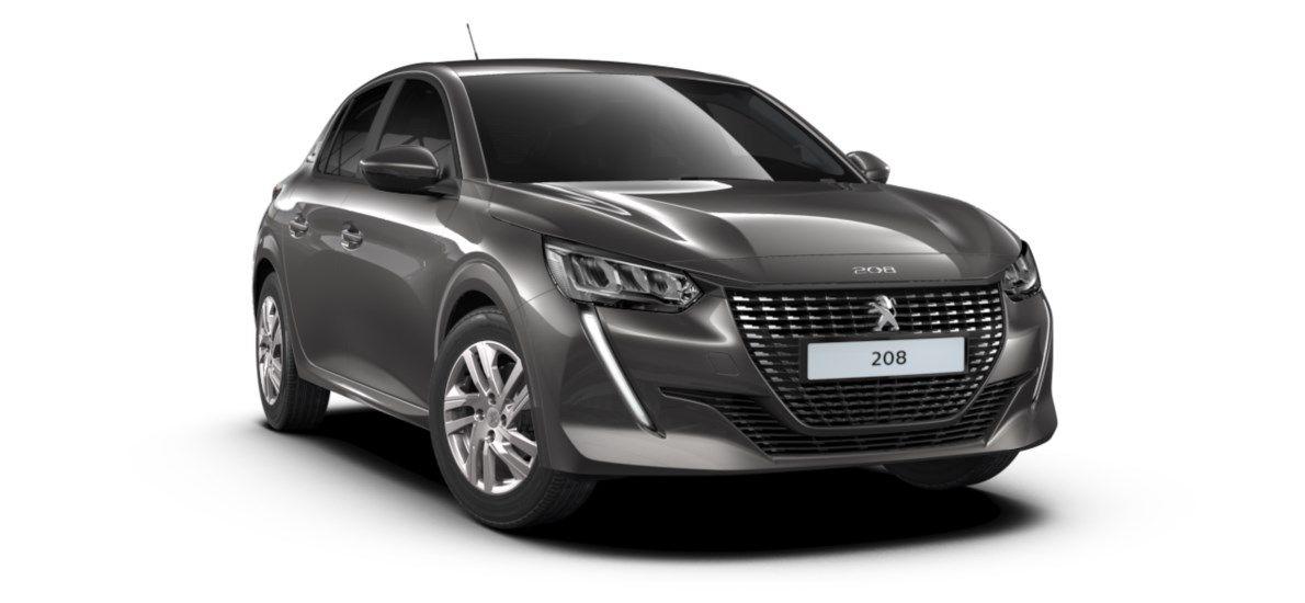 Nieuw Peugeot New 208 Berline 5 portes Active Pack 1.2 PureTech 100ch EAT8 Gris Platinium (M0VL) 1