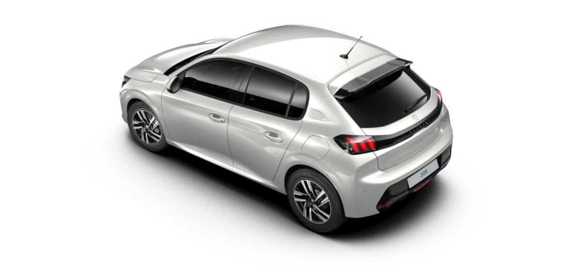 Nieuw Peugeot New 208 Berline 5 portes Allure Pack 1.2 PureTech 100ch EAT8 Blanc Nacré (M6N9) 4