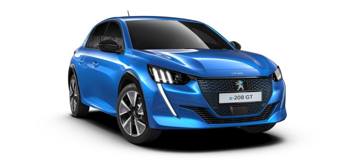 Nieuw Peugeot New 208 Berline 5 portes GT Pack Electrique e- AUTOMATIQUE A REDUCT Bleu Vertigo (M6SM) 7