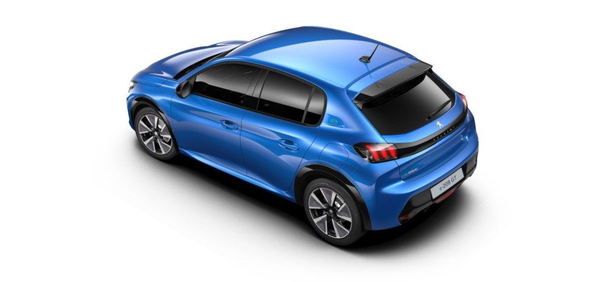 Nieuw Peugeot New 208 Berline 5 portes GT Pack Electrique e- AUTOMATIQUE A REDUCT Bleu Vertigo (M6SM) 4