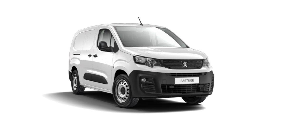 Nieuw Peugeot Partner Long Heavy Premium 1.5 BlueHDi 130ch S&S S&S Manuelle 6 vitesses Blanc Banquise (P0WP) 1