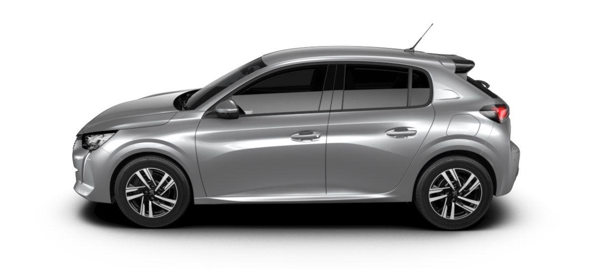 Nieuw Peugeot New 208 Berline 5 portes Allure Pack 1.2 PureTech 100ch EAT8 Gris Artense (M0F4) 3