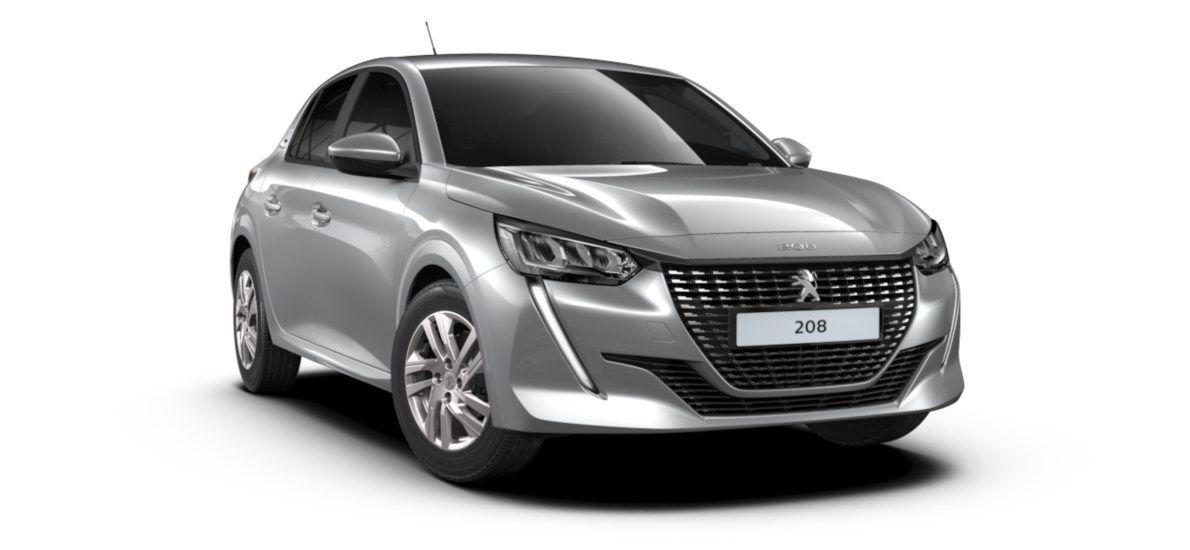 Nieuw Peugeot New 208 Berline 5 portes Active Pack 1.2 PureTech 100ch EAT8 Gris Artense (M0F4) 1